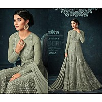 Designer heavy embroidered long gown