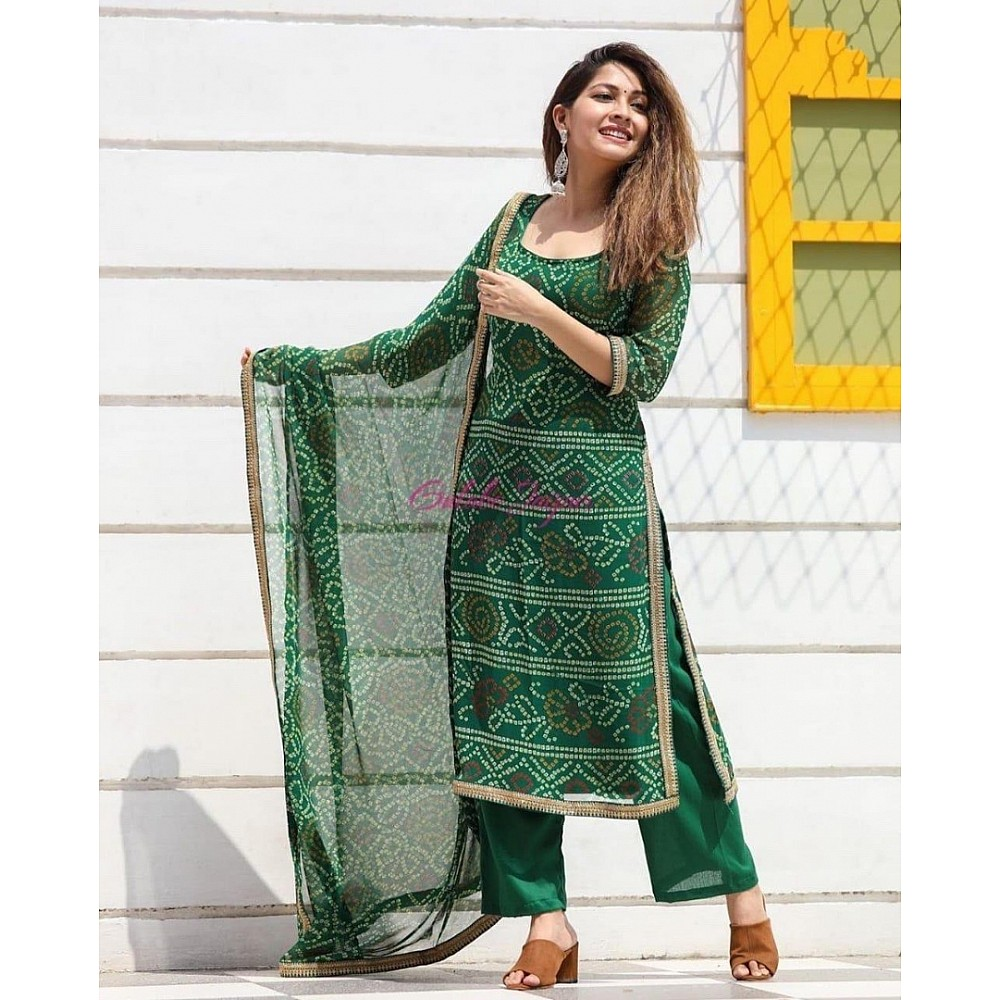 style studio Beautiful bandhni printed salwar suit