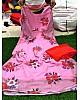 Baby pink floral printed georgette long salwar suit