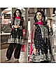 Black georgette embroidered plazzo salwar suit