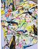Multi colored soft silk sparrow printed designer saree