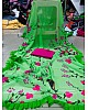 Neon pista green georgette digital floral printed casual saree