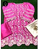Pink heavy rangoli silk embroidery and cut work salwar suit