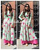 sea green georgette digital flower printed plazzo kurti