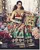 Designer heavy digital printed bridal wedding lehenga