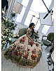 Designer heavy flowerprint bridal white wedding lehenga