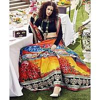 Stylist gorgeous printed and handwork bridal ceremonial lehenga