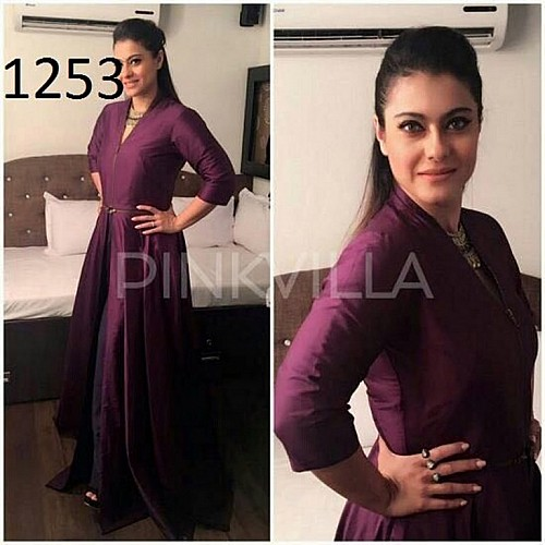 Angel bollywood style purple partywear gown
