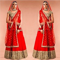 Angel boutique embroidered red wedding lehenga