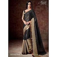Aura Cotton silk black saree