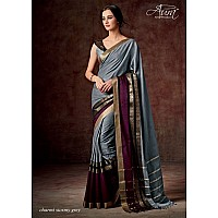 Aura Cotton silk grey saree