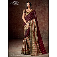 Aura Cotton silk maroon saree