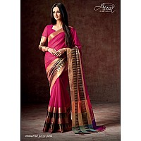 Aura Cotton silk pink saree