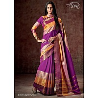 Aura Cotton silk purple saree