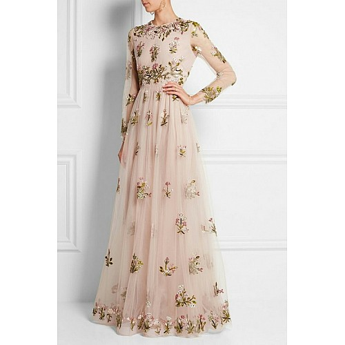 Beautiful cream embroidered gown