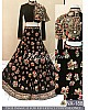 Beautiful designer heavy embroidered black indowestern lehenga