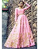 Beautiful embroidered pink wedding anarkali suit