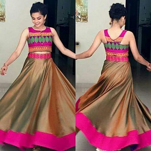 Beautiful Golden Plain Ceremonial lehenga
