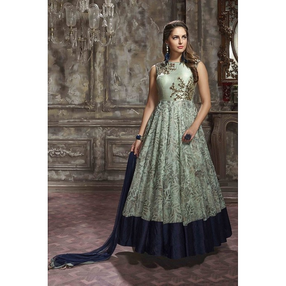 Beautiful hand worked green ceremonial gown