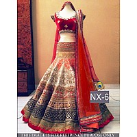 beautiful heavy thread and handwork bridal lehenga
