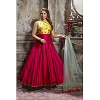 Beautiful malbari silk pink wedding gown