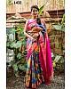 Beautiful Multicolor Printed Festival Saree