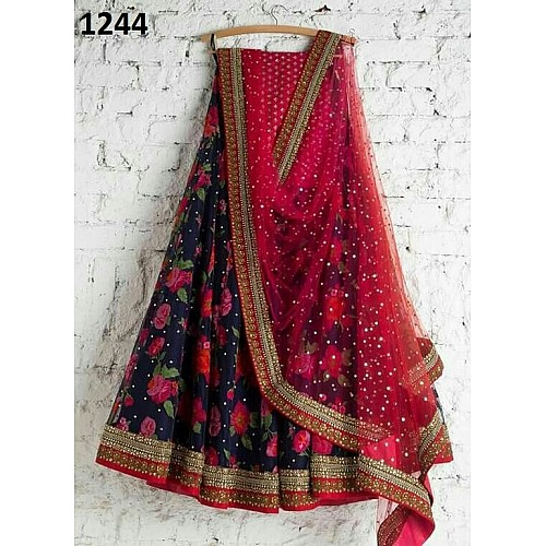Beautiful Multicolor printed Navratri lehenga