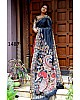 Beautiful Nevy Blue Printed Ceremonial Saree