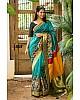 Beautiful Rama Printed Festival Saree