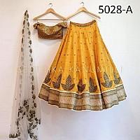 Beautiful Yellow embroidered Ceremonial lehenga