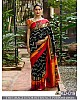 Beautiful zarna silk multicolor saree