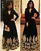 black heavy banglori embroidered partywear bollywood gown