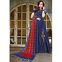 blue velvet silk with khatli work partywear salwar suit