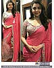 Bollywood pink embroidered wedding saree
