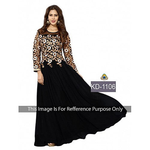 bollywood style black gown