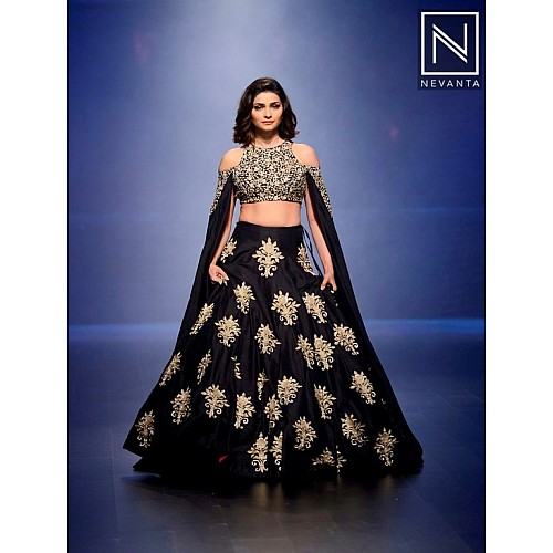 Bollywood style embroidered heavy lehenga