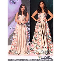 Bollywood style embroidered partywear gown