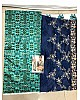 Bollywood style fancy threadwork and prited saree