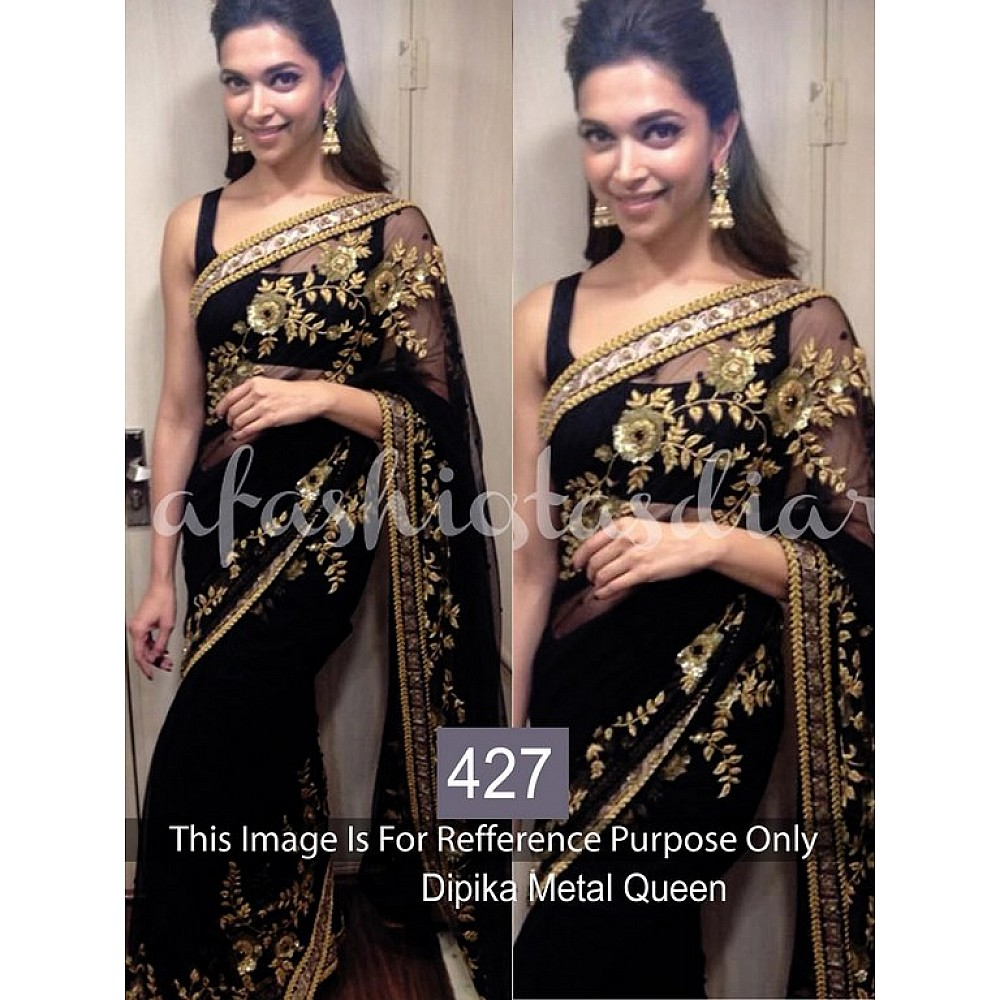 Bollywood style gorgeous partywear embroidered saree