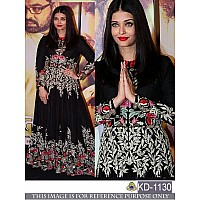 Bollywood style heavy embroidered black anarkali suit