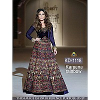 Bollywood style heavy embroidered wedding gown