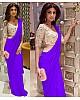 Bollywood style multicolor partywear saree