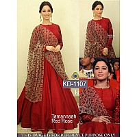 bollywood style red long anarkali suit