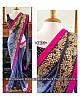 Designer blue embroidered wedding saree