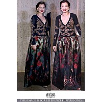 Designer Bollywood style black ceremonial gown