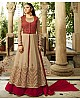 Designer embroidered brown indian wedding salwar suit