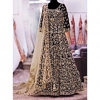 Designer heavy embroidered black wedding Suit