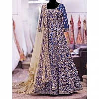 Designer heavy embroidered blue wedding Suit
