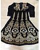Designer heavy embroidered wedding black anarkali suit