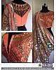 Designer look fancy thread work mono net saree